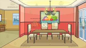 An Empty Dining Room Background