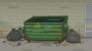 An Empty Dumpster Background