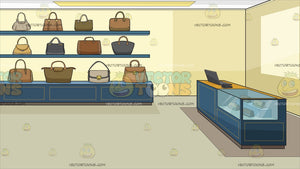 An Expensive Bag Boutique Background