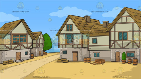 An Old Style Medieval Village Background