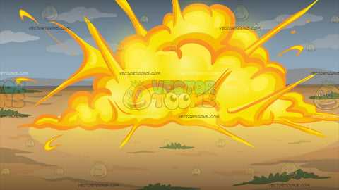 An Outdoor Explosion Background