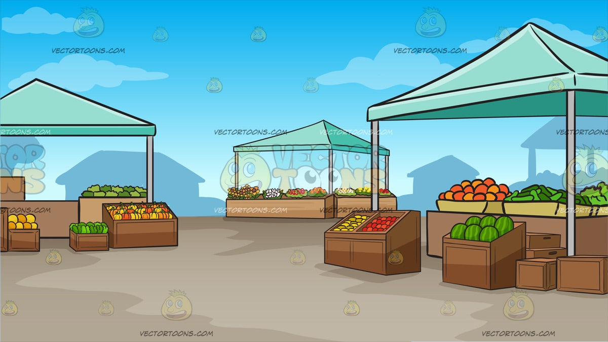 An Outdoor Farmers Market Background