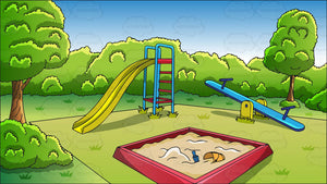 An Outdoor Playground Background