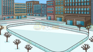 An Outdoor Skating Rink Background