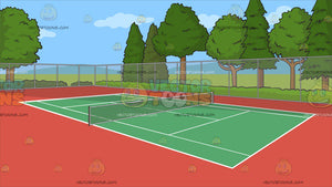 An Outdoor Tennis Court Background