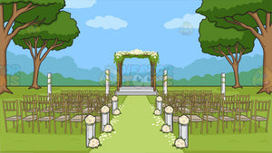 An Outdoor Wedding Ceremony Venue Background