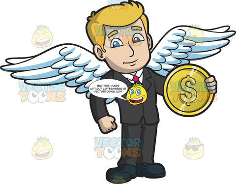 An Angel Investor Holding A Gold Coin