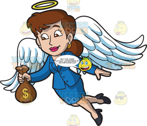 An Angel Investor Holding A Bag Of Capital Money