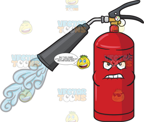 Angry And Bruised Fire Extinguisher Emoji