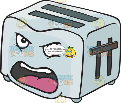 Angry And Screaming Pop Up Toaster Emoji