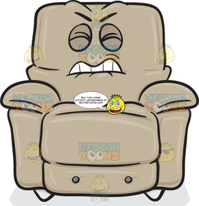 Annoyed And Disgruntled Stuffed Chair Emoji