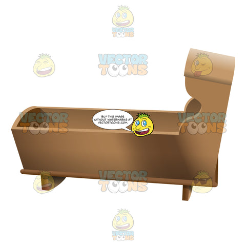 A Basic Wooden Baby Crib