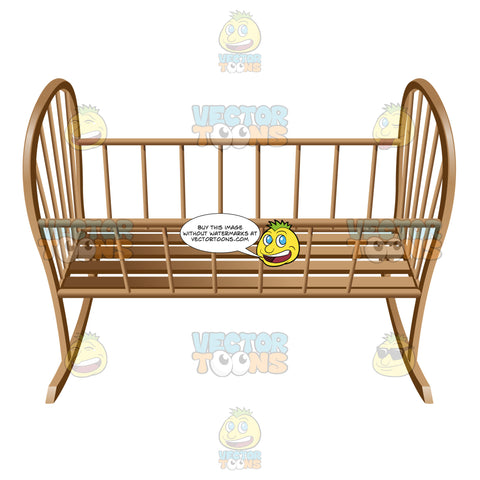A Vintage Style Infant Rocker
