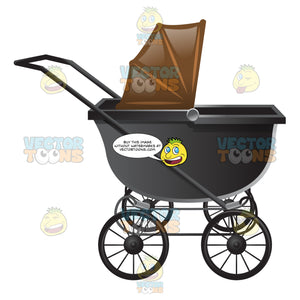 An Antique Style Stroller With Brown Shade