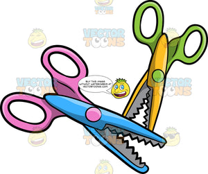 Two Pairs Of Craft Scissors