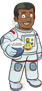 A Black Male Astronaut Smiles Before A Mission