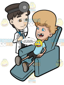 A Happy Teenage Boy Giving Thanks To His Dentist After A Tooth Extraction