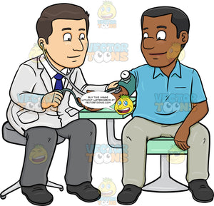 A Doctor Getting The Blood Pressure Of His Black Male Patient