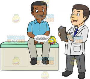 A Doctor Asking Medical Questions To His Black Male Patient