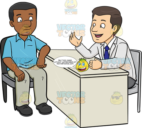 A Doctor Conversing With A Black Male Patient