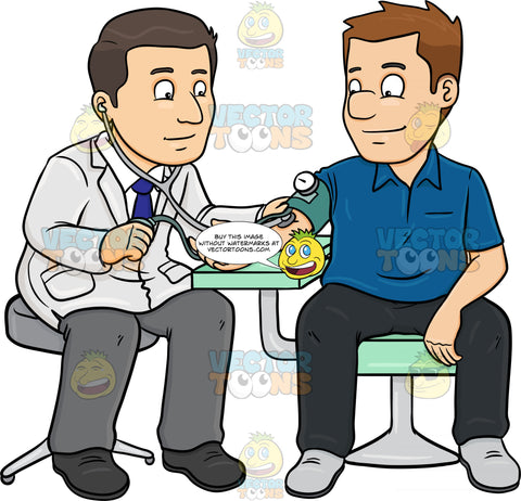 A Doctor Getting The Blood Pressure Of His Male Patient