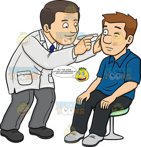 A Doctor Checking The Eye Of His Male Patient