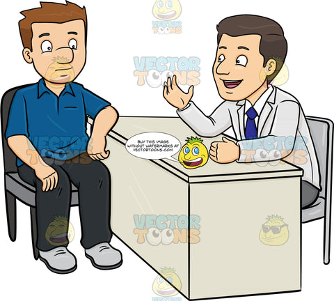 A Doctor Conversing With A Male Patient