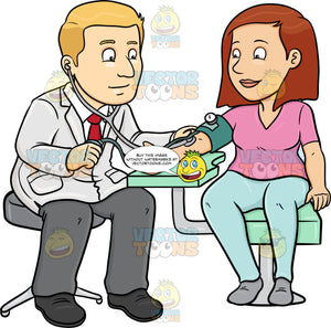A Doctor Getting The Blood Pressure Of His Female Patient