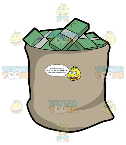 A Big Bag Full Of Australian Dollar Bills