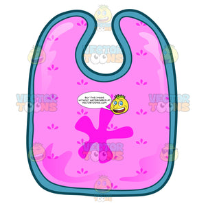 A Pink Baby Bib With A Polygon Print