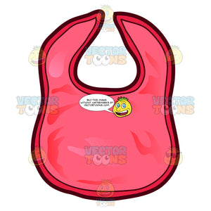 A Red Cotton Bib