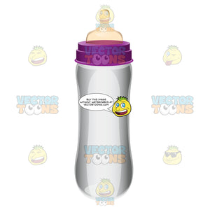 A Transparent Feeding Bottle Without A Cap