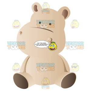 Cute Brown Stuffed Baby Hippo Doll Toy