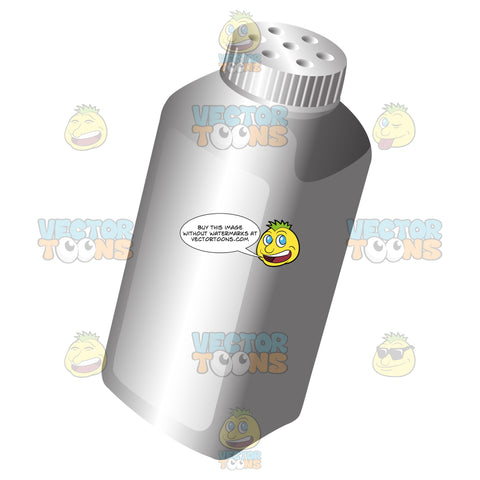 Basic White Baby Powder Container