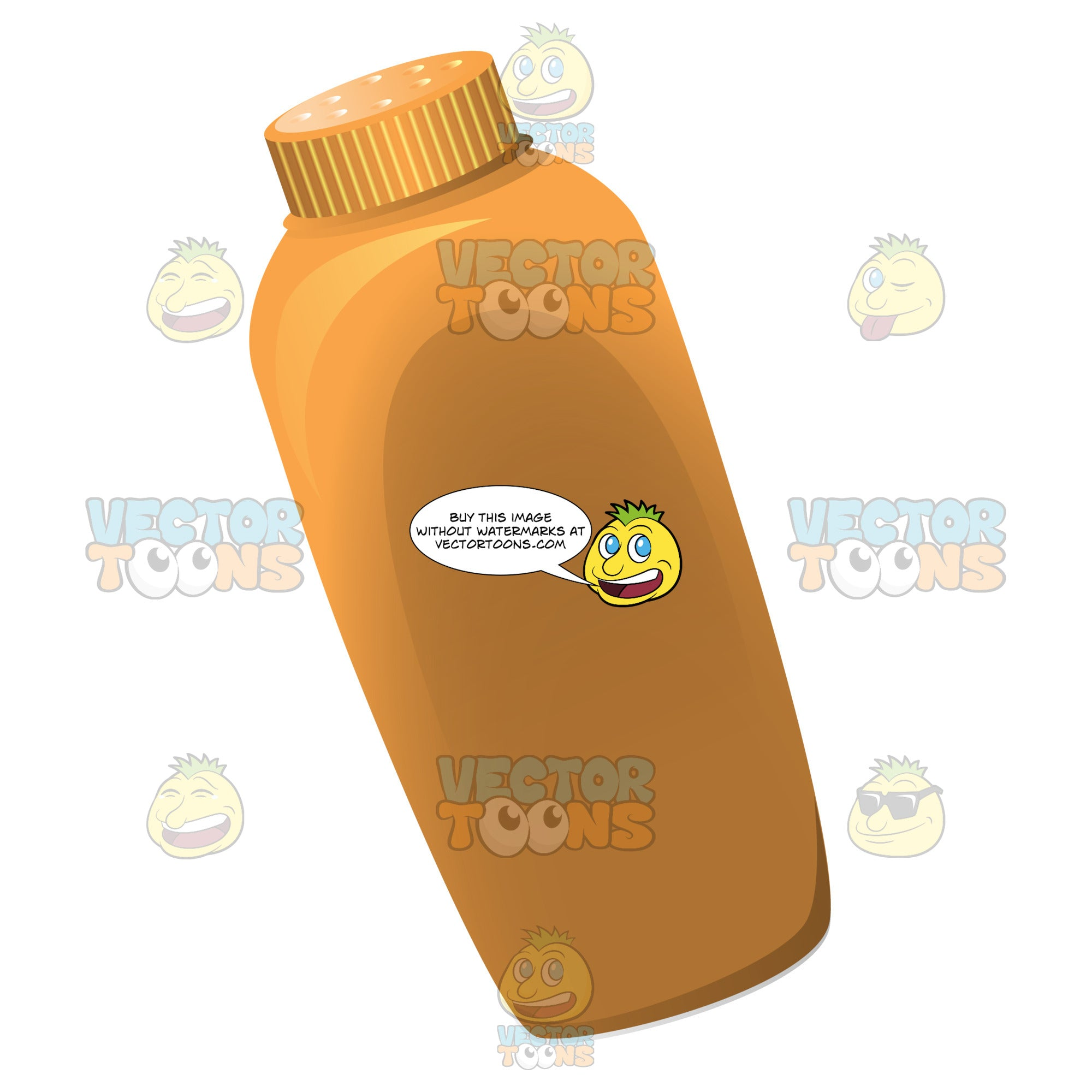 Basic Orange Baby Powder Container