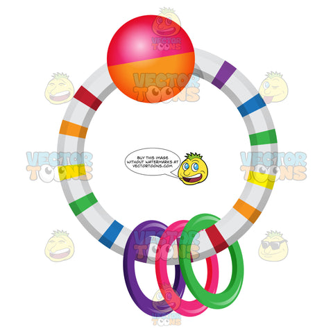 Ring In Ring Colored Rattle