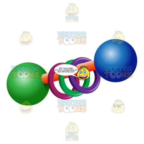 Two Spherical Rattle With Rings