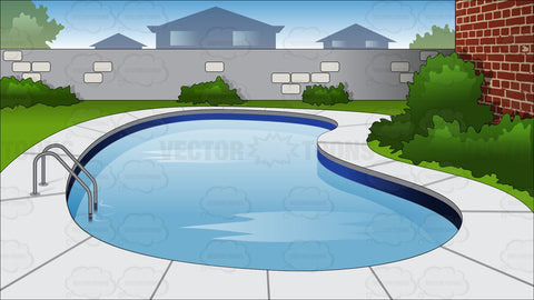 Backyard Swimming Pool Background