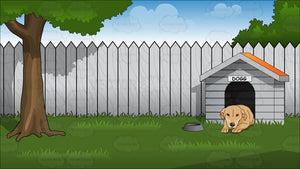 Backyard With Doghouse Background