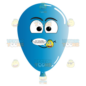 Balloon With Smiling Face Looking At Camera Emoji