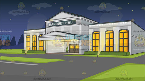 Banquet Hall Facade Background