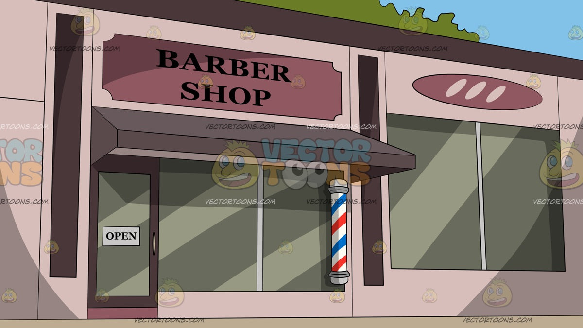 Barber Shop Facade Background