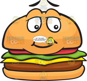 Bashful Looking Cheeseburger