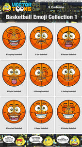 Basketball Emoji Collection 1