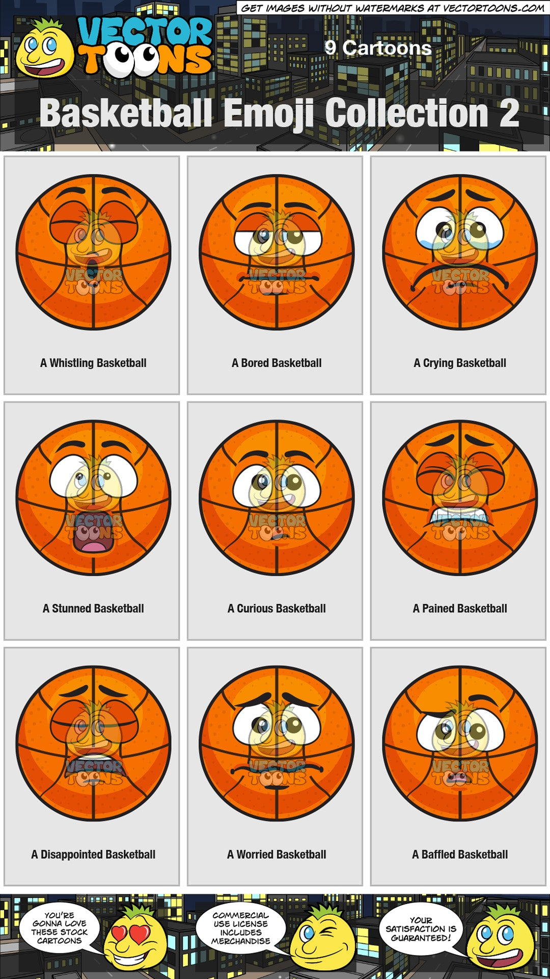 Basketball Emoji Collection 2