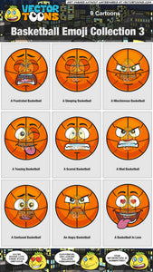 Basketball Emoji Collection 3