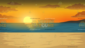 Beach Sunset Background