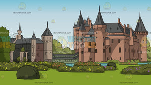 Beautiful European Castle Background