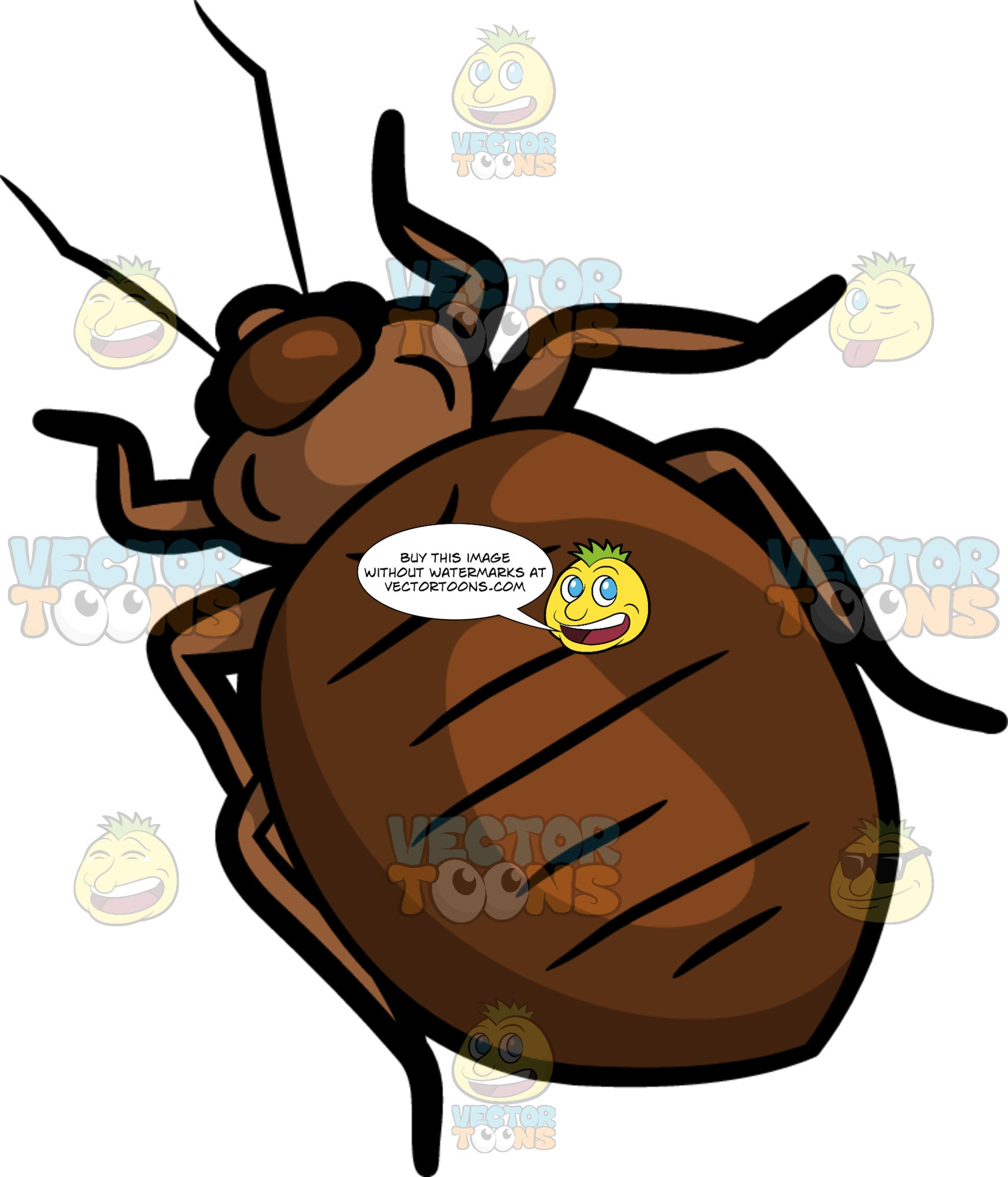 A Bed Bug Clipart Cartoons By Vectortoons