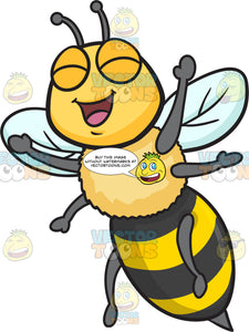 An Excited And Overjoyed Bee